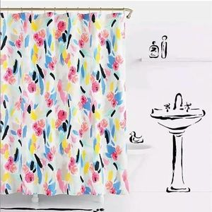 """KATE SPADE PAINTBALL FLORAL 72""""X72"""" SHOWER CURTAIN"""